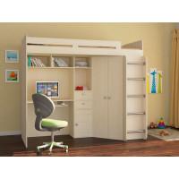 Подростковая кровать РВ-Мебель чердак Астра (дуб молочный)