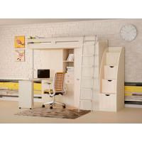 Подростковая кровать РВ-Мебель чердак М-85 и Лестница-комод (дуб молочный)