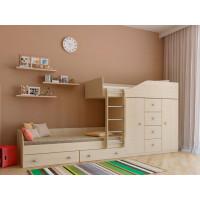 Подростковая кровать РВ-Мебель двухъярусная Астра 6 (дуб молочный)