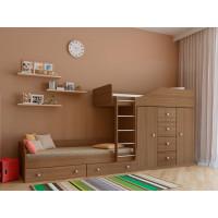 Подростковая кровать РВ-Мебель двухъярусная Астра 6 (дуб шамони)
