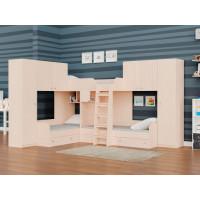 Подростковая кровать РВ-Мебель двухъярусная Трио 3 (дуб молочный)