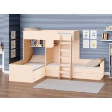Подростковая кровать РВ-Мебель двухъярусная Трио (дуб молочный)