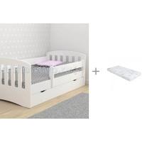 Подростковая кровать Столики Детям с бортиком Классика 80х160 см и Матрас Incanto UOMO CHC 160x80x12 см