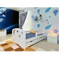 Подростковая кровать Столики Детям с бортиком Ночь 160х80 см