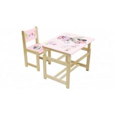 Polini Комплект растущей детской мебели Disney baby 400 SM Минни Маус