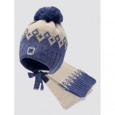 ПриКиндер Шапка и шарф для мальчика MK2-4034
