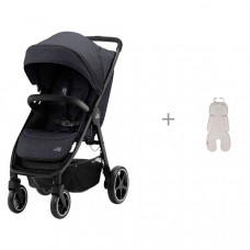 Прогулочная коляска Britax Roemer B-Agile R и Дышащий 3D матрасик Leokid Newborn Cotton