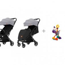 Прогулочная коляска Carrello Turbo CRL-5503 и подвесная игрушка с вибрацией Зебра Жирафики