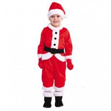 Пуговка Карнавальный костюм Малыш Санта Новогодняя сказка