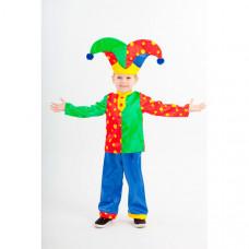 Пуговка Карнавальный костюм Скоморох гороховый Русские сказки