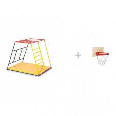 Ранний старт Детский спортивный комплекс Стандарт базовая комплектация и Баскетбольное кольцо со щитом