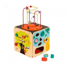 Развивающая игрушка Janod Куб развивающий с комплектом игр: 8 видов активностей