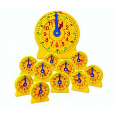 Развивающая игрушка Learning Resources Учимся определять время Часовой пазл Большой набор