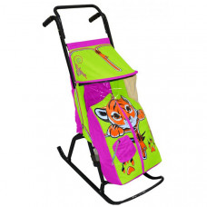 Санки-коляска R-Toys Снегурочка 2-Р Тигренок