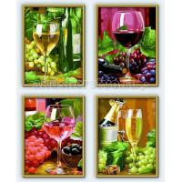 Schipper Картина по номерам 4 шт. Вино 18х24 см