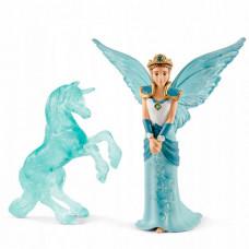 Schleich Фигурка Эльфийка Айела и ледяная статуя единорога