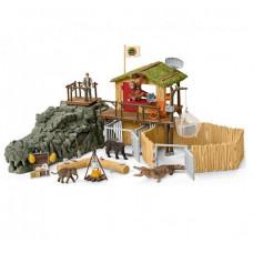 Schleich Игровой набор Исследовательская станция джунглей Крокодил
