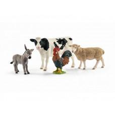 Schleich Набор из 4 фигурок Farm World starter set Животные фермы
