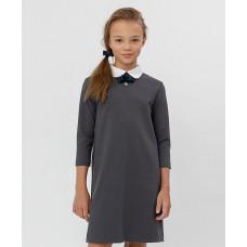 Серое платье с рукавом 3/4 Button Blue