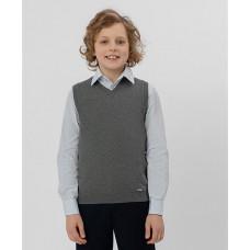 Серый трикотажный жилет Button Blue 220BBBS30011900