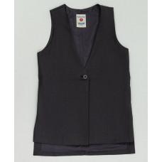 Серый удлиненный жилет Button Blue 220BBGS47020100