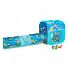 SevillaBaby Игровой домик квадратный с тоннелем + 100 шаров Океан