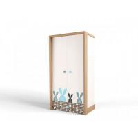 Шкаф ABC-King 2-х дверный Mix Bunny