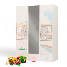 Шкаф ABC-King 3-х дверный Bears c зеркалом