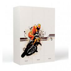 Шкаф ABC-King 3-х дверный Extreme Moto