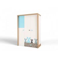 Шкаф ABC-King 3-х дверный Mix Bunny