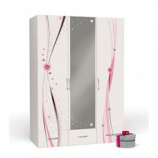 Шкаф ABC-King 3-х дверный Princess с зеркалом