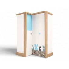 Шкаф ABC-King угловой гармошка Mix Bunny (левый)
