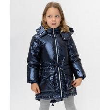 Синее демисезонное пальто Button Blue 220BBGMC45011000