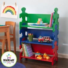 """Система хранения в детскую комнату """"Пазл"""", яркий"""