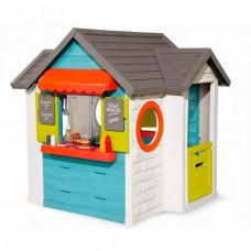 Smoby Домик детский для улицы 3 в 1: садовый домик, ресторан и магазин
