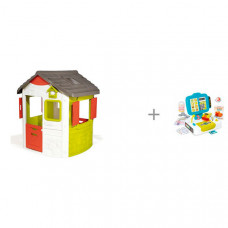 Smoby Игровой домик Jura Neo и Детская электронная касса с весами и аксессуарами
