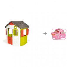 Smoby Игровой домик Jura Neo и Игровой набор Кукла Еви на круизном корабле 12 см Simba