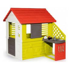 Smoby Игровой домик с кухней 81071