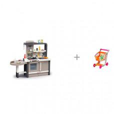 Smoby Растущая Кухня Tefal Evolutive пузырьки (40 аксессуаров) с тележкой с продуктами 1225