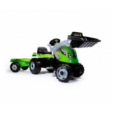 Smoby Трактор педальный строительный с прицепом