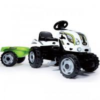 Smoby Трактор педальный XL с прицепом