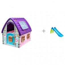 Starplast Игровой домик Сказочный и горка Mochtoys toys малая