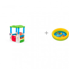 Step 2 Игровой домик Весёлые шары и бассейн Intex Мини с59409