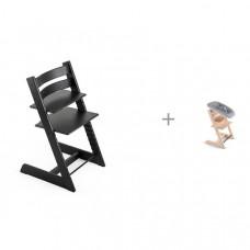 Стульчик для кормления Stokke Tripp Trapp Oak и сиденье Newborn Set для новорожденного