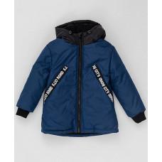 Темно-синяя демисезонная куртка Button Blue 220BBBMC41011000