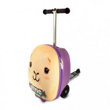 Трехколесный самокат Zinc с чемоданом Лама