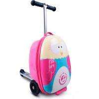 Трехколесный самокат Zinc с чемоданом Owl