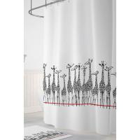 Tropikhome Шторы для ванн полиэстер Digital Printed Giraffe 180х200 см