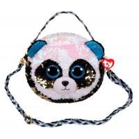 TY Сумочка с длинным ремешком Бамбу панда с пайетками
