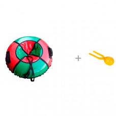 Тюбинг Atemi Санки-ватрушка Профи-лайт 110 см и 1 Toy Игрушка для формирования снежков